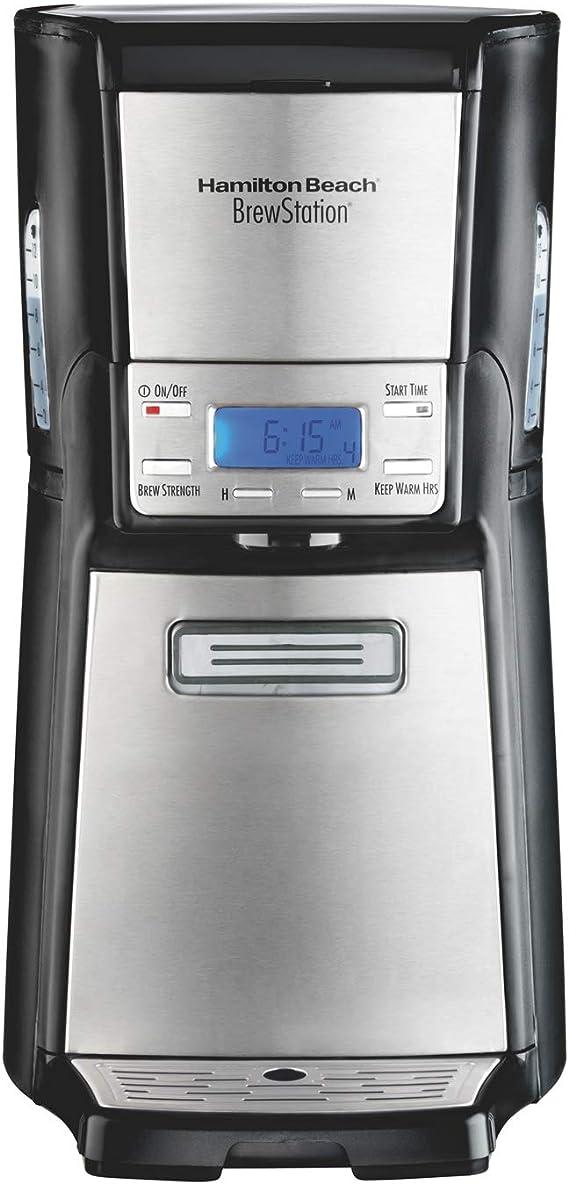 Hamilton Beach (48465) Coffee Maker with 12 Cup Capacity & Internal Storage Coffee Pot