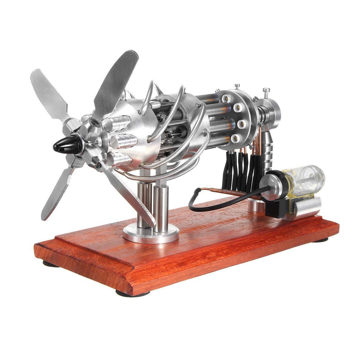 FidgetGear 16 Cylinder Hot Air Stirling Engine Motor Creative Steam Power Education Model