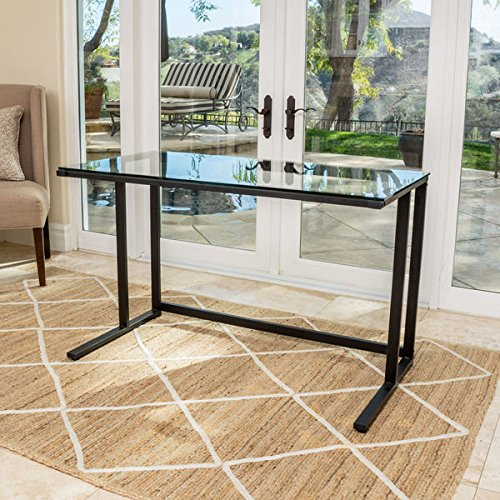 Christopher Knight Home Eghan Glass Computer Desk (Desks Glass For Home)