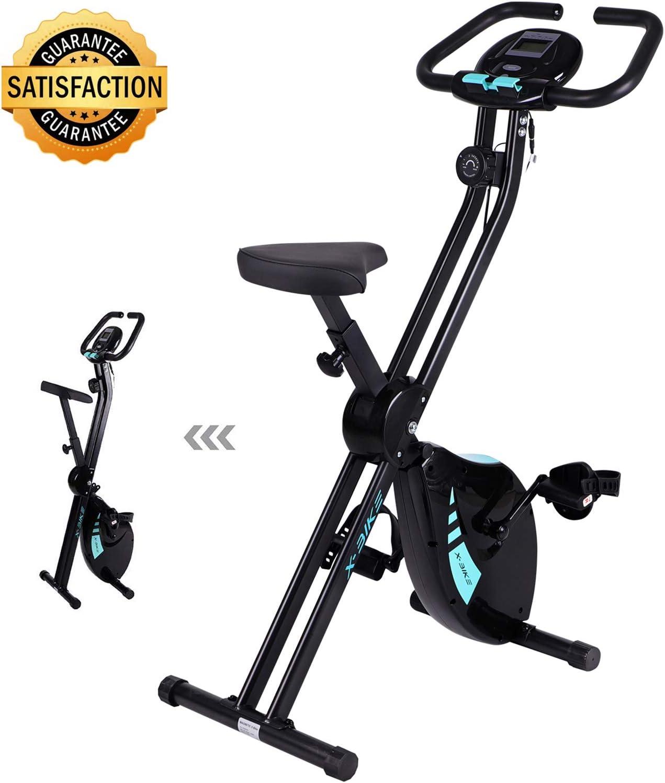 Bicicleta de Ejercicios, para Interiores, Plegable, para Gimnasio ...