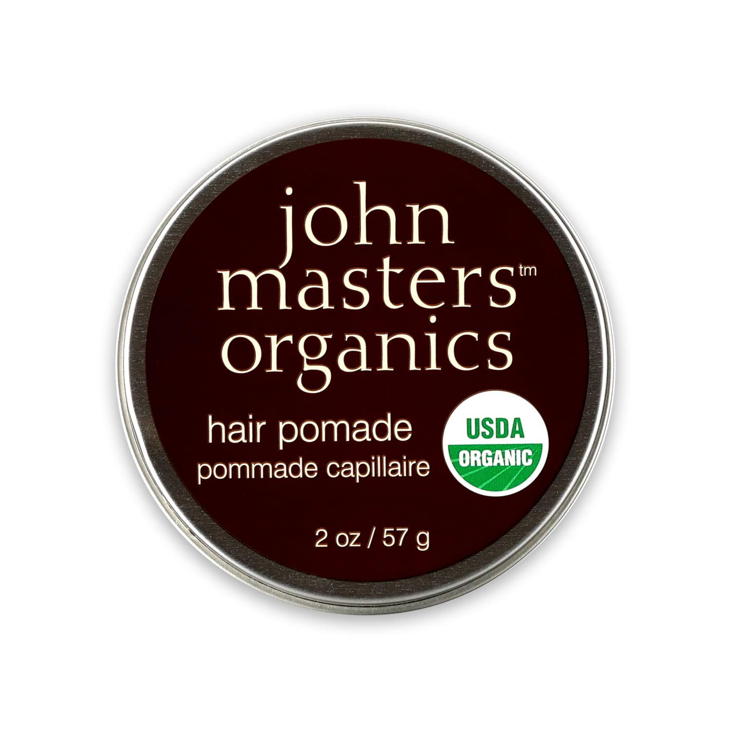 John Masters Organics - Hair Pomade - USDA Certified Organic All Natural Hair Styling Product for Men & Women, Heat Protectant with Beeswax & Mango Butter - Petroleum Free - 2 oz