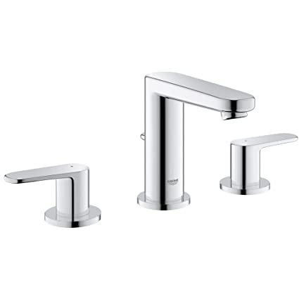 Beau Widespread 2 Handle 3 Hole Bathroom Faucet