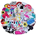 Cute Laptop Stickers For Teen Girl 45 Pcs Pack Cartoon Waterproof Vinyl Water Bottle Computer Notebook Car Skateboard Motorcycle Bicycle Luggage Guitar Bike Decal Style E