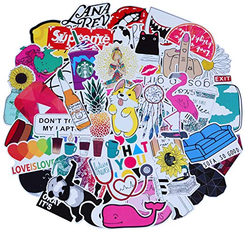 Stickers 100 Pcs Breezypals Laptop Stickers Car Motorcycle