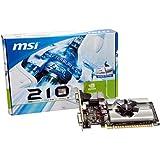 MSI N210-MD1G/D3 GeForce 210 Graphic Card - 589 MHz Core - 1 GB GDDR3 SDRAM - PCI Express 2.0 x16 - Half-height - 1000 MHz Memory Clock - 2560 x 1600 - DirectX 10.1, - HDMI - DVI - VGA LOW PROFILE