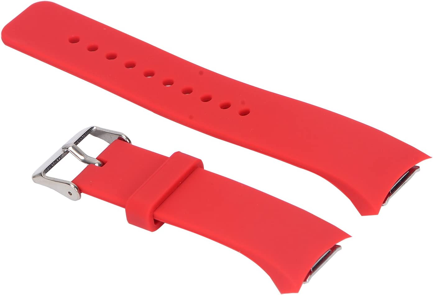 PINHEN Correa Compatible con Galaxy Gear S2 Band - Soft Silicone Replacement Sport Correa for Galaxy Gear S2 (Not Fit Gear S2 Classic SM-732 Version) (Red)