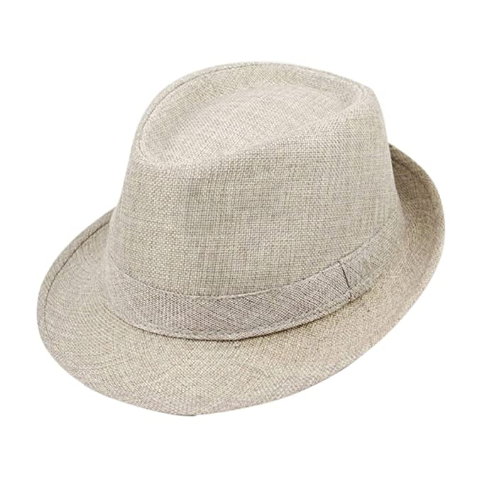 3f976a59 Bluelans® New Fashion Unisex Fedora Hat Panama Sun Hats (Beige ...