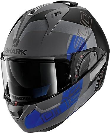 Shark Unisex-Adult Flip-Up Helmet Glossy White, L - 59-60 cm - 23.2-23.6