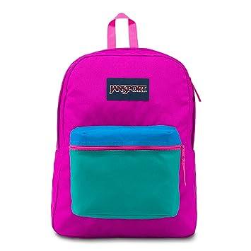 JanSport Exposed Backpack - Neon Purple/Ultra Pink