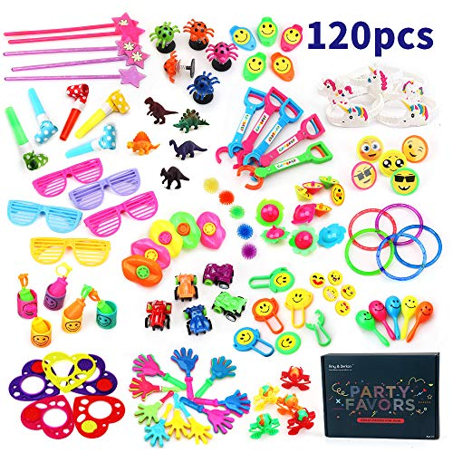 AmyampBenton 120PCS Carnival Prizes for Kids Birthday Party Favors Prizes Box Toy Assortment for Classroom
