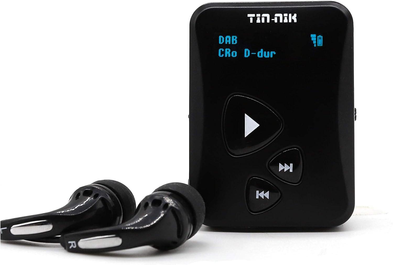 Tin-Nik DAB-398S Radio personal portátil DAB/DAB+/FM,Mini Radio de bolsillo digital FM RDS con batería recargable,pantalla OLED para hacer deporte,correr,caminar,marcha rápida o montar en bicicleta