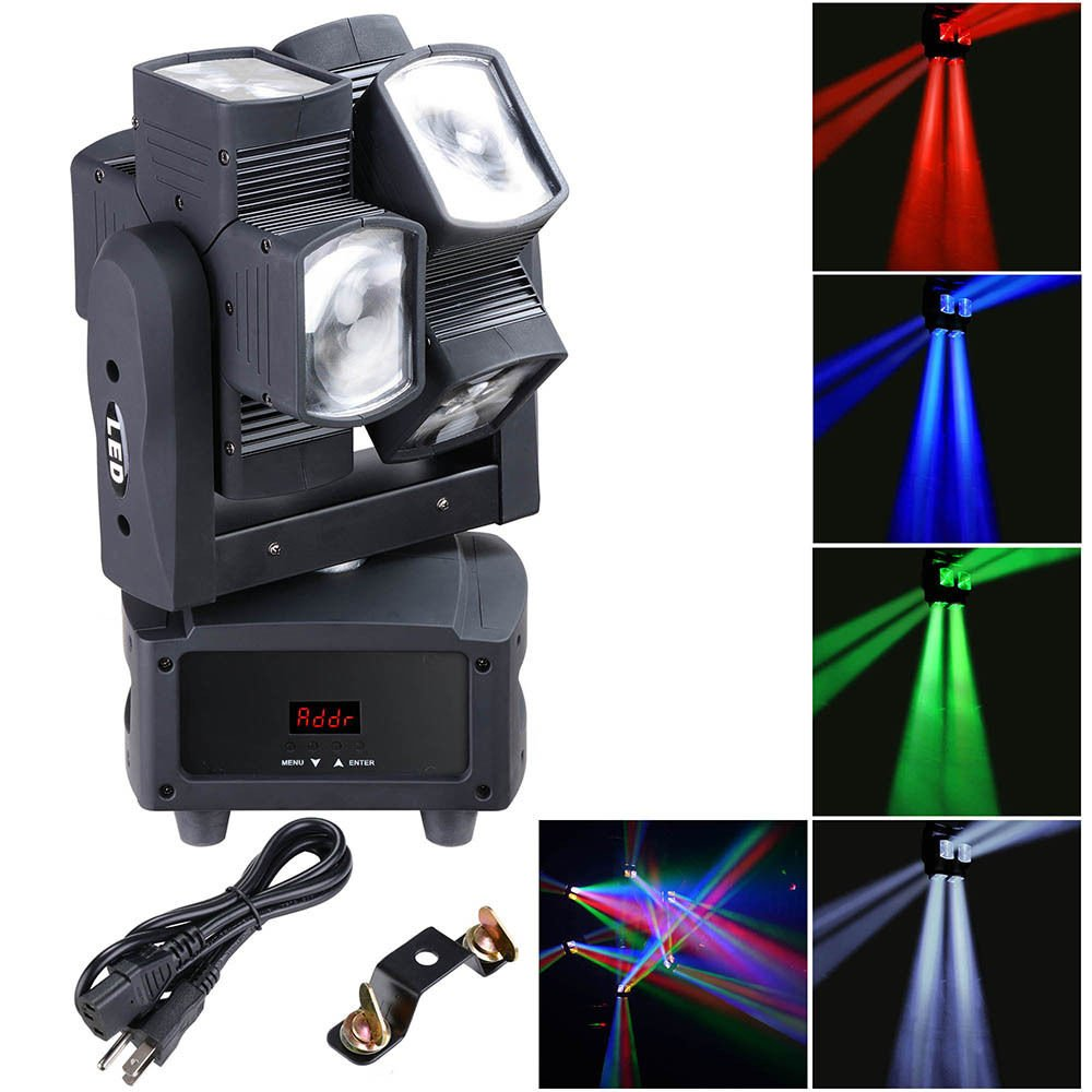 Amazon com: 80W 4in1 Double Wheel LED Moving Head Light Full