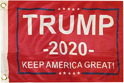 Amazon Com Trade Winds 12x18 Trump 2020 Keep America Great Red 100d Woven Poly Nylon Flag 12 X18 Banner Grommets Heavy Duty Ruf Garden Outdoor