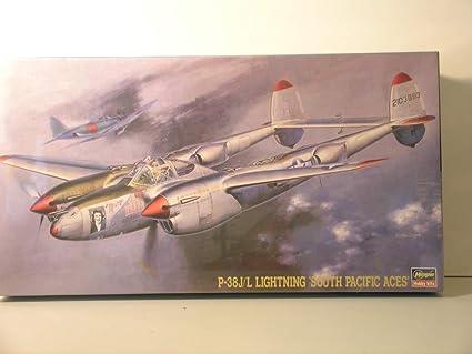 Amazon.com: Hasegawa Models-1/48 Scale P-38 J/L Lightning ...