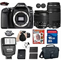 Canon EOS 80D Digital SLR Camera + 18-55 ISSTM Lens+ Canon EF 75-300mm f/4-5.6 III Telephoto Zoom Lens+ 9 piece Deluxe Accessory Professional Key Pieces Review Image