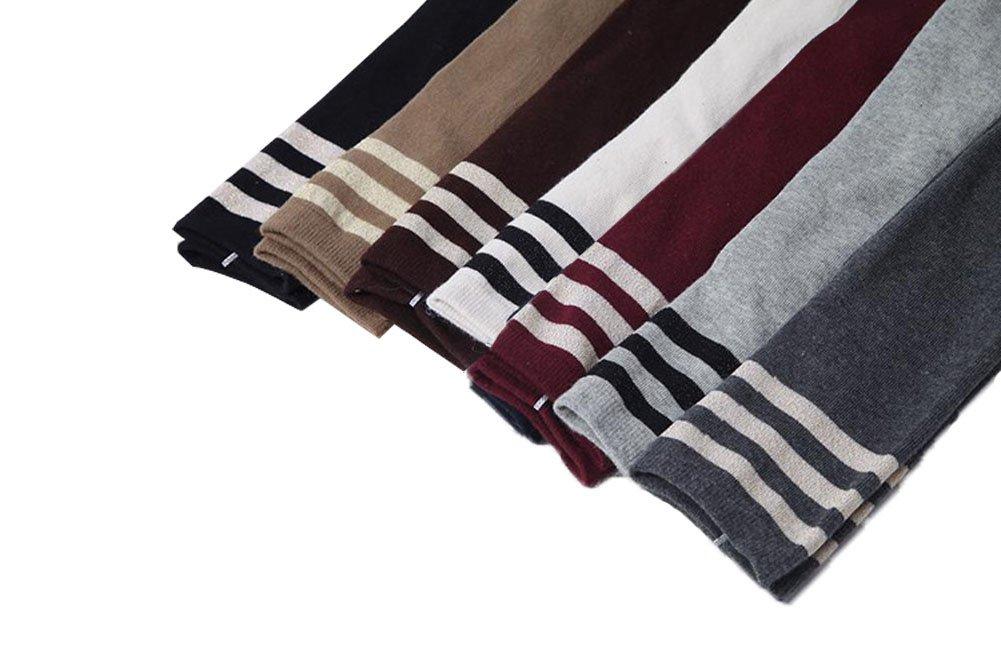 Vimans 2016 Women's Triple Stripe Over the Knee High Socks Thigh High Stockings Pack of 7 H