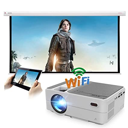 Amazon.com: Portable Mini Projector 3200 lumens Support WiFi ...