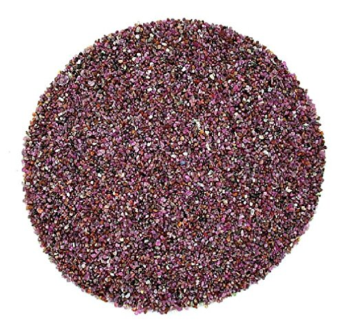 ushed Stone No Dye Natural Red Ruby Jewelry Craft Inlay Chip NO POWDER 2mm & Less ()