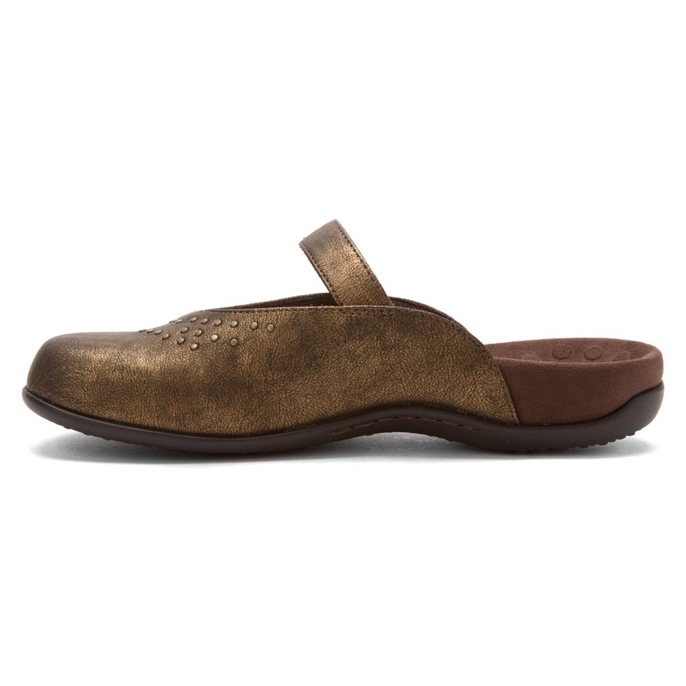 Orthaheel Womens Airlie Studded Mule 27AIRLIE BRNZ M 050