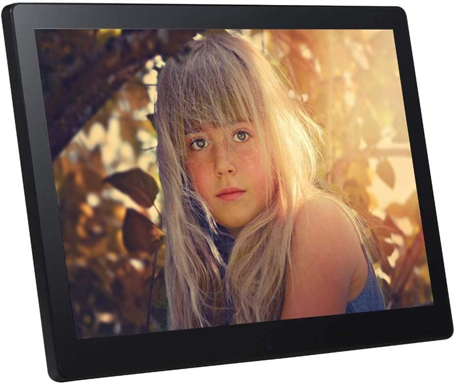Hi-Res Digital Photo Photo Frame with USB and SD Card Slots and Remote Control,Black HD Display WW/&C 17 Inch Digital Photo Frame
