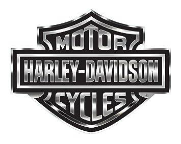 Amazon harley davidson decal chrome bar shield logo x harley davidson decal chrome bar shield logo x large 30 x voltagebd Choice Image