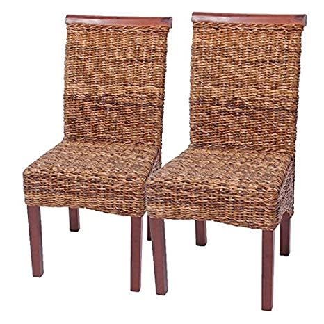 Set 2x sedie M45 intreccio di banano gambe chiare 93x47x54cm ~ senza cuscino