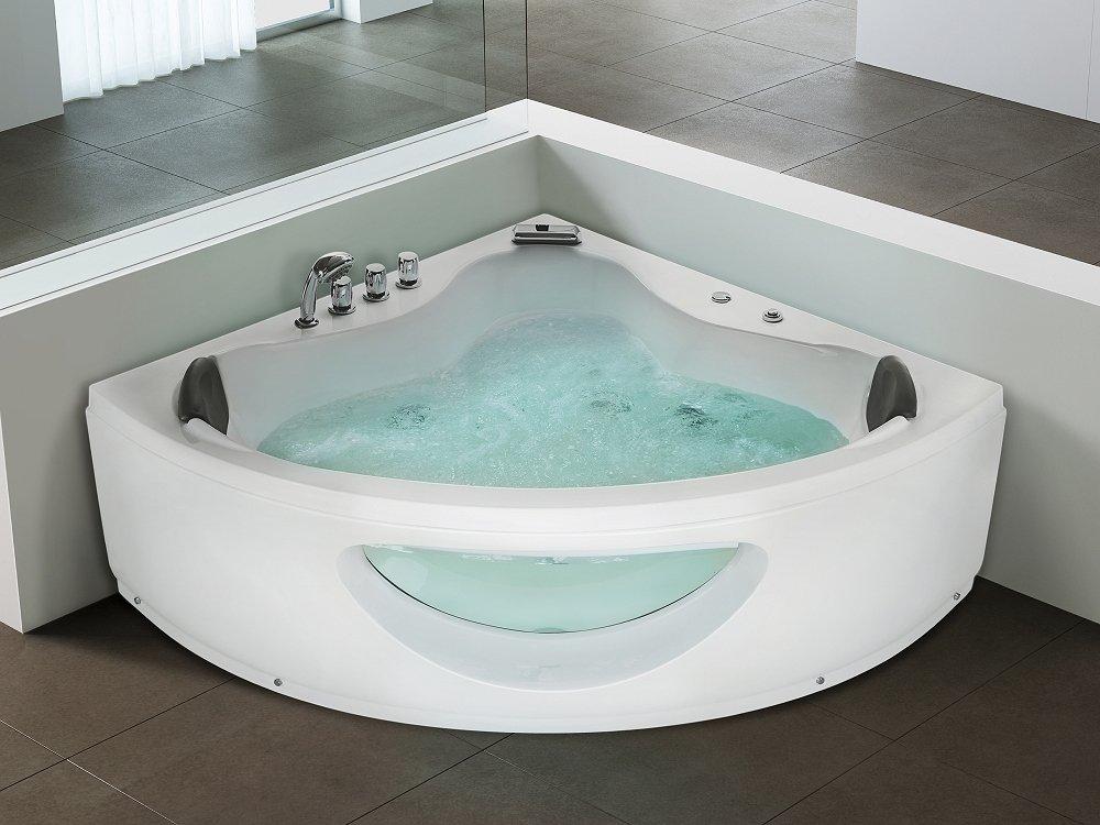 Vasca Da Bagno Angolare Chiusa : Vasca idromassaggio angolare da interno vasca spa tocoa: beliani