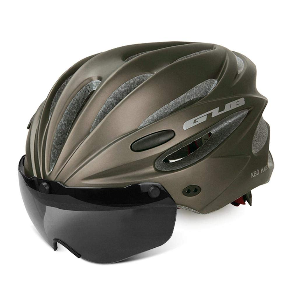 Fahrradhelm mit abnehmbarer magnetischer Brille, Augenschutz, Visier für Mountain- und Rennräder, verstellbare Fahrradhelme für Erwachsene, Herren und Frauen, Jugendliche für Radfahren/Mountain/Straße