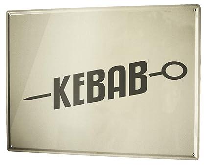 Cartel Letrero de Chapa Retro Kebab: Amazon.es: Hogar