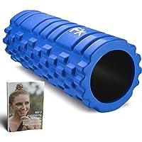 FX FFEXS Foam Roller Grid Massage Roller met Digitaal Trainingsboek - Perfect voor Trigger Point Massage van Rug Benen…