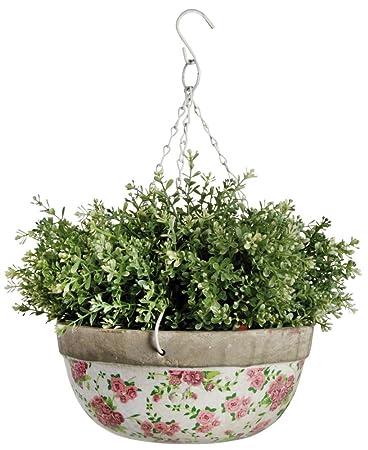 Keramik Blumenampel Hängekorb Ceramic Blumentopf Rosen Rose ...