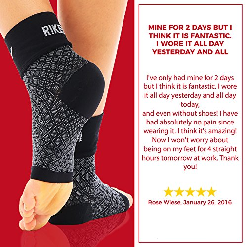 2faa523d91 Rikedom Sports (1 Pair Best Plantar Fasciitis Foot Sleeves Graduated  Compression Heel Arch Ankle Sleeves Socks Brace Plantar Sock for Men and  Women, ...