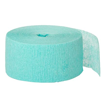 a98bc52b71f Amazon.com: 81ft Sea Foam Green Crepe Paper Streamers: Kitchen & Dining