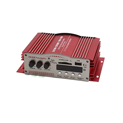 Amazon.com: Stereo DealMux 2-CH Mini Car Barco Motorcycle Amplificador de áudio CD DVD MP3 Red Jogador: Automotive