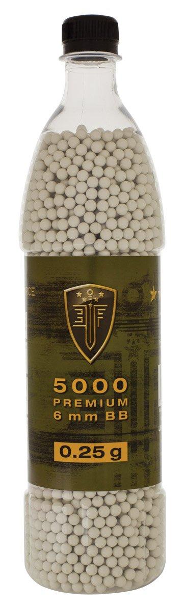 Elite Force Premium 6mm Airsoft BBs Ammo, .25 Gram, 5000 Count, Multi (2279506)