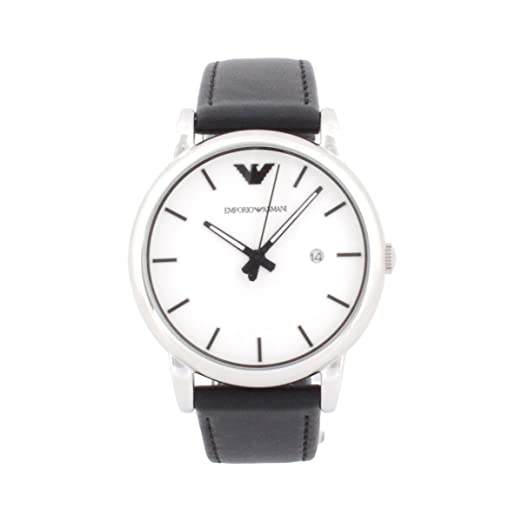 0835cc5648f7d Buy Mens Watch Armani AR1694 Classic Stainless Steel Case Leather Strap  White Tone Online at Low Prices in India - Amazon.in