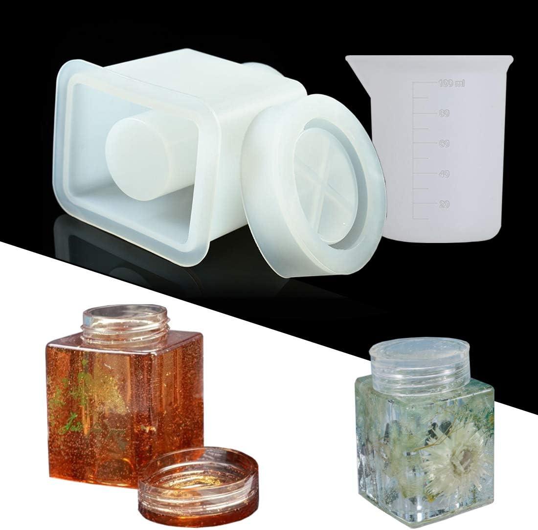 Moldes de silicona para resina (frasco de 100ml)