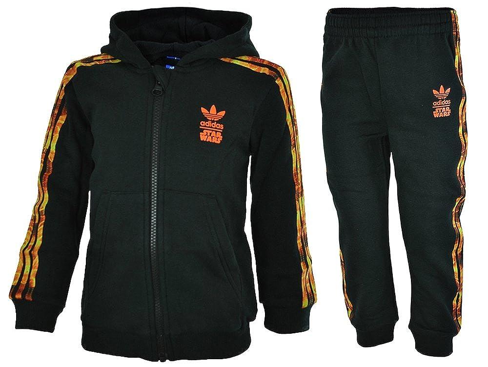 adidas I SW HFL Flame - Chándal para niños, Color Negro/Naranja ...