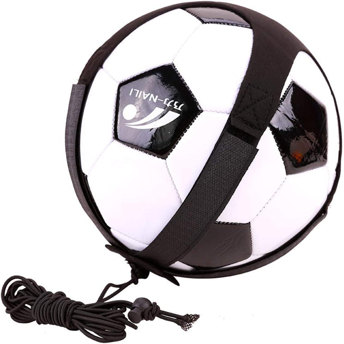 LIOOBO Adjustable Soccer Football Practice Belt Soccer Kick Throw Training Equipment Aid Football Kick Trainer Solo Soccer Trainer Black
