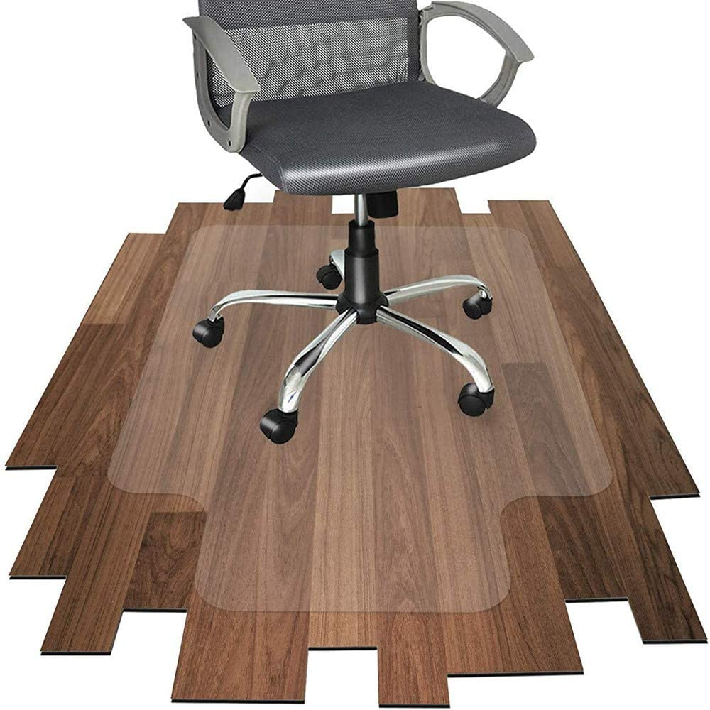 Hardwood Floor mat/thickest Chair mat-20X 35.5inch Transparent Crystal Chair mat for Hard Floors,Plastic mat for Desk ChairOffice ChairCushion (50x90x0.15cm)