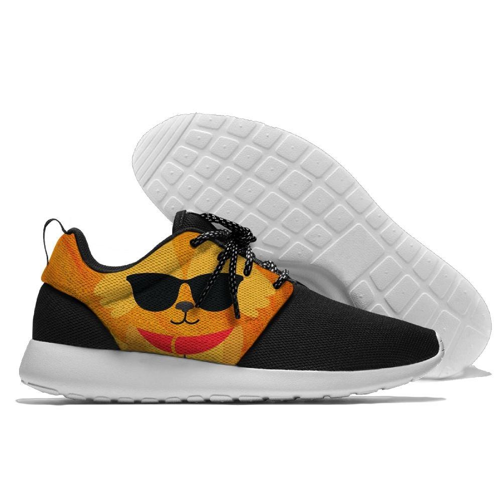 Colorful Corgi Love Sunglass Men's Running Shoes Mesh Soft Lightweight Sport Shoes