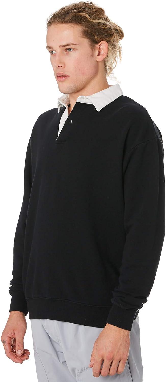 ZANEROBE Mens Essentials Classic Fit Polo Button Tee Shirt