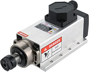Square Air Cooled Spindle Motor 2.2KW ER20 24000rpm 220V 6A 400Hz CNC Engraving Router Milling
