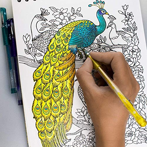 ColorIt 48 Glitter Gel Pens For Adult Coloring Books - New Glitter Colors Metallics Neons, Gel Pens with Case and 48 Matching Ink Refills For 96 Total Glitter Pack by ColorIt (Image #6)