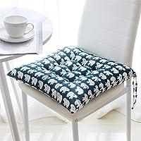 GLITZFAS Juego de 4 cojines para silla, 40 x 40 cm, cojín para silla de jardín, balcón, terraza…