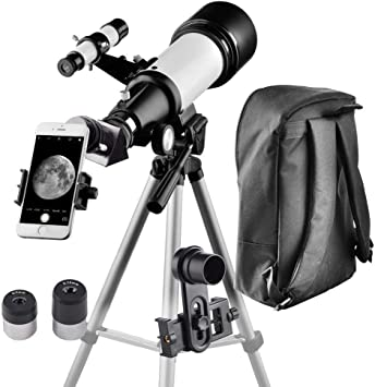 Telescope for Beginners and Kids-60mm Apeture 700mm Focus Length Telescope Refractor /& Travel Scope to Observe Moon and Planet with Tripod and 10mm Eyepiece Smartphone Mount