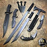10 Pieces Tactical Knife Set Includes