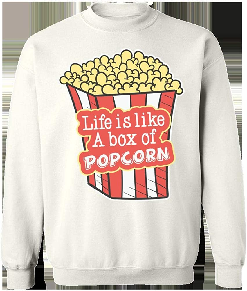Life is Like A Box of Popcorn Cool Creative Design Sweatshirt