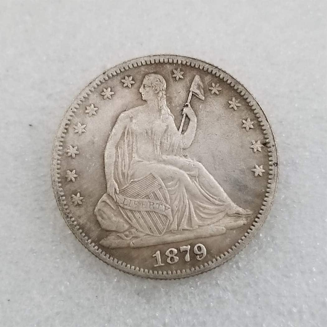YunBest 1879 Moneda de Medio dólar de la Libertad Antigua – Moneda ...