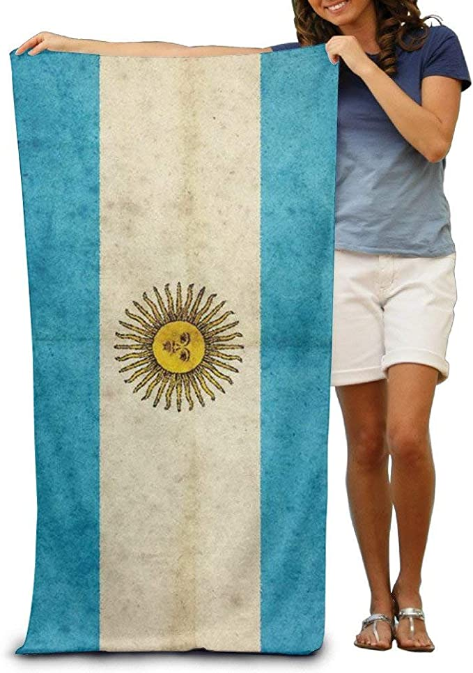 Sula-Lit - Toalla de Playa para Hombre, diseño de Bandera de la Argentina: Amazon.es: Hogar
